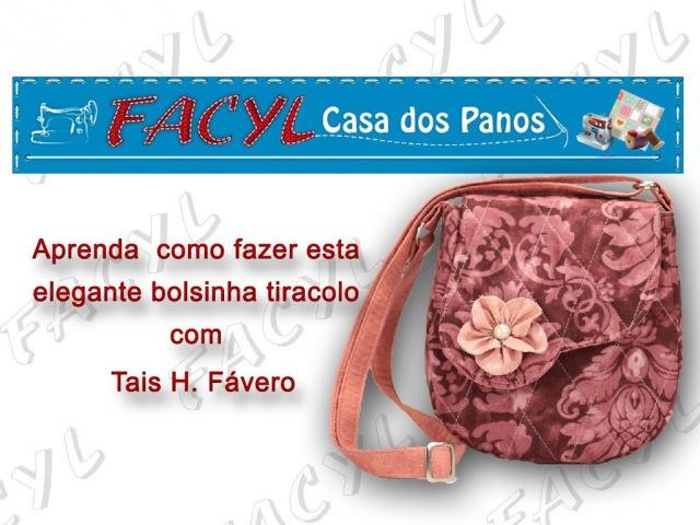 Passo a Passo de uma bolsinha tiracolo elegante em tecido por Taís H. Fávero