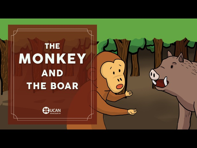 Learn English Listening English Stories 30 The monkey and The boar