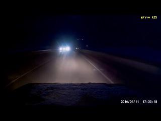 Почти ДТП в последний момент заметил аварию на трассе. Повезло!