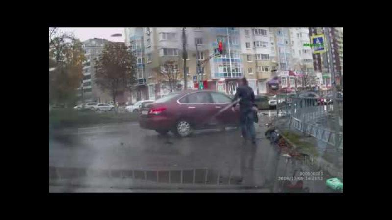 ДТП Жёсткая авария на перекрестке г Орел