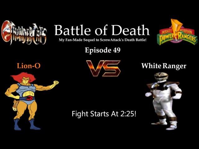 Battle of death episode 49: Lion-O vs White Ranger (MMPR)(Лайн-О против Белого Рейнджера)