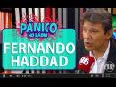 Carioca discute com Fernando Haddad prefeito de São Paulo durante o programa Pânico