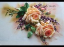 Вышивка лентами мастер класс Роза урок 2 от Наталии Уритян
