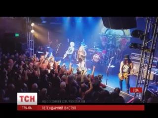 Экс-участники рок-группы Guns N 'Roses выступили на одной сцене впервые за 23 года