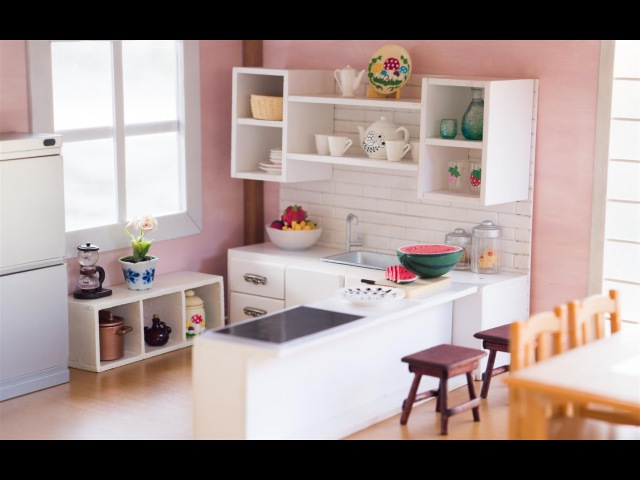 DIY Dollhouse - Miniature Kitchen for Nendoroid, Dolls Action Figures