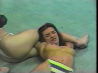 Female wrestling in the ring