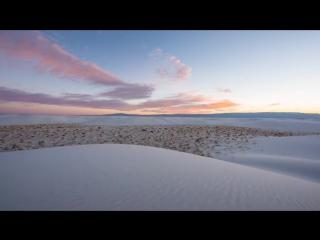 Sunrise at White Sands National Monument near Alamogordo, New Mexico.