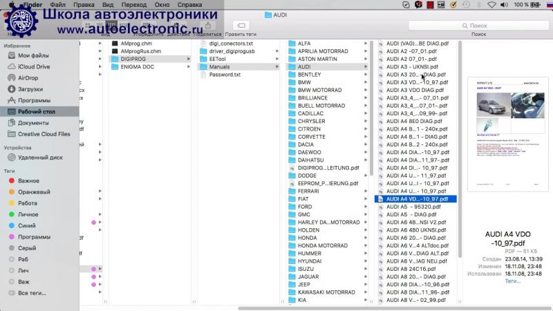 4. Инструкция. Видеокурс по работе с DigiProg 3.