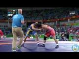 РИО-2016 греко-римская борьба 85 кг квалификация Хабиболла Ахлаги (Иран) - Закариас Берг (Швеция)