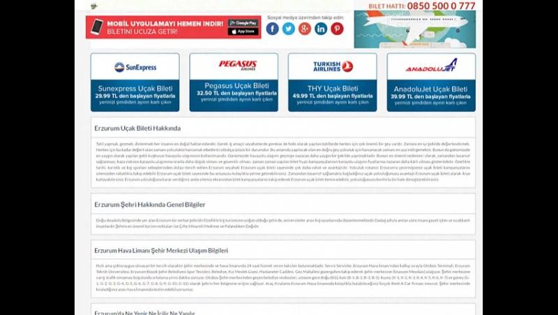 Erzurum uçak bileti - kolaybilethatti.com