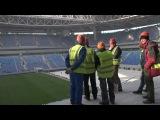 Выдвижное поле на стадионе в западной части Крестовского острова успешно задвинули в чашу стадиона