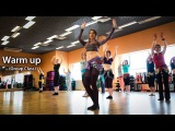 Warm up to Bellydance. Soft movements.