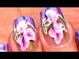 SHORT NAILS gel polish nail designs with BOWS at home.