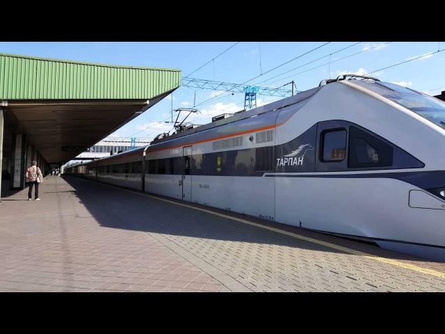 Електропоїзд ЕКр1-002 «Тарпан» рейсом 743. Ukrainian speed train EKr1-002 Тарпан 4K UHD