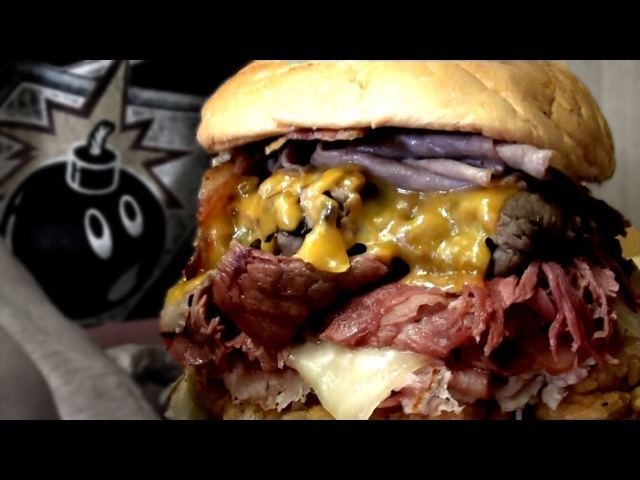 Competitive Eater takes on Arbys Meat Mountain