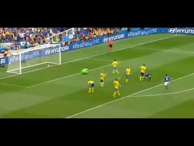 Футбол Италия Швеция 1 0 ГОЛ Эдера Групповой этап Группа E ЕВРО 2016