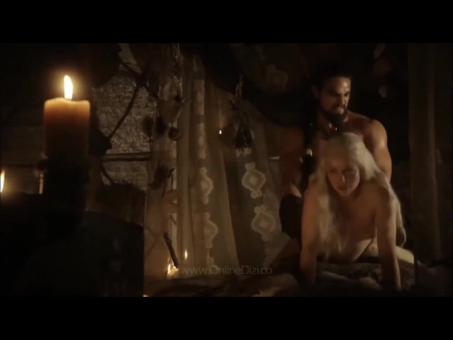 Game of thrones Daenerys Khaalesi and Khal Drogo sex scene