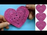 Как вязать валентинку How to crochet heart