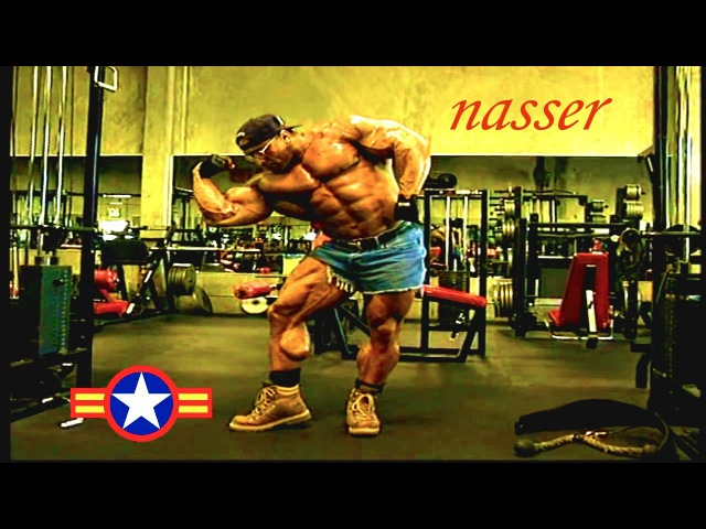 Nasser El Sonbaty Jean Pierre Fux Arms Back Workout For 1999 Mr Olympia YouTube 720p