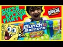 Super SpongeBob Splash Party with Zuru Buncho Balloons and Ice Cream Man|Banchi Brothers Toy Review