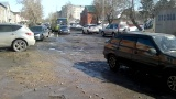 Дорога в г Барнаул ул Петра-Сухова.