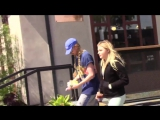 Chloe Moretz Gets Lunch At Gracias Madre With Braided Stylis