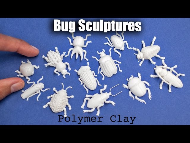 Bug / Insect Sculptures with Polymer Clay Speed Sculpting