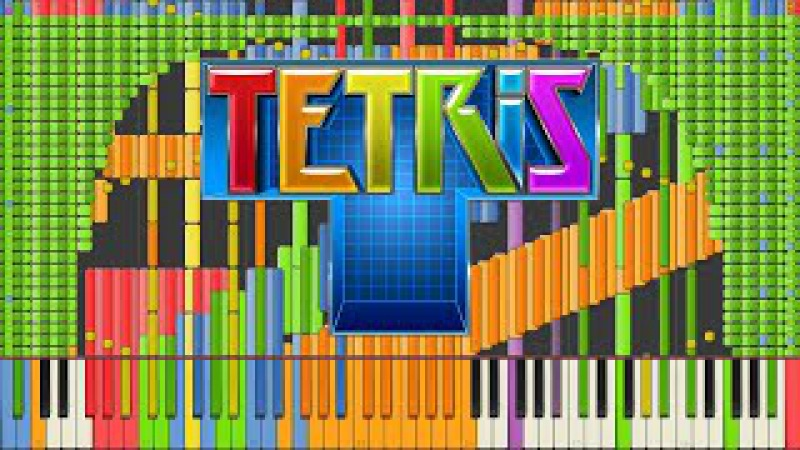 [Black MIDI] Synthesia – Tetris Theme A [Final] Impossible Remix 90,000 notes ~ Kanade Tachibana