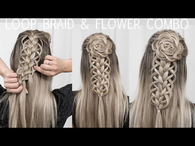 Loop Braid Flower Rosette Tutorial - DIY!