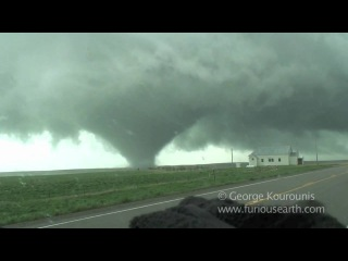 Chasing a Large Tornado in South Dakota May 24, 2010