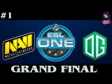 GRAND FINAL NaVi vs OG 1 | ESL ONE Frankfurt Lan Finals (19.06.2016) Dota 2