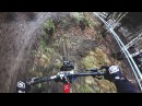 Martin Lebl muddy training - Lourdes DH World Cup 2016