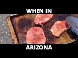 Жаркая погода в Аризоне готовим стейк на асфальте и выпекаем печенье в ламбо