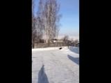 Одноклассница Юли на каникулах в деревне. Февраль 2017г.