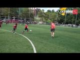 فيدال و الونسو يتحدون 40 ناشئ في بايزن ميونيح في مباراة كرة قدم