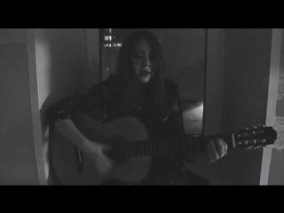 Анастасия - Chandelier (Sia cover) guitar vocal девушка поет с гитарой песня