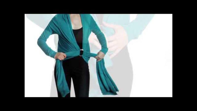 Как носить кардиган трансформер Видеоинструкция