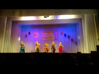 Indian classical dance.The group