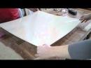 Плёнка мебельная Видео урок по наклейке на стекло