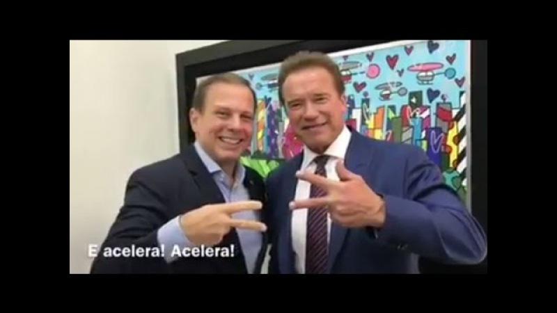João Doria Recebe Arnold Schwarzenegger para reunião voltada para o meio ambiente e esportes