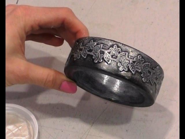 Декупаж мастер-класс №8 как сделать браслет ручной работы подарок женщине имитация старого серебра