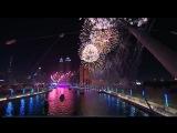 Церемония открытия Dubai Water Canal в Дубае