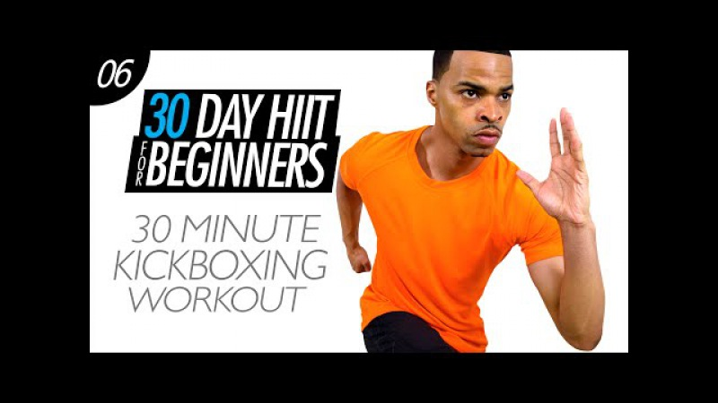 30 Min. Total Body Cardio Kickboxing Workout for Beginners | Beginner HIIT 06