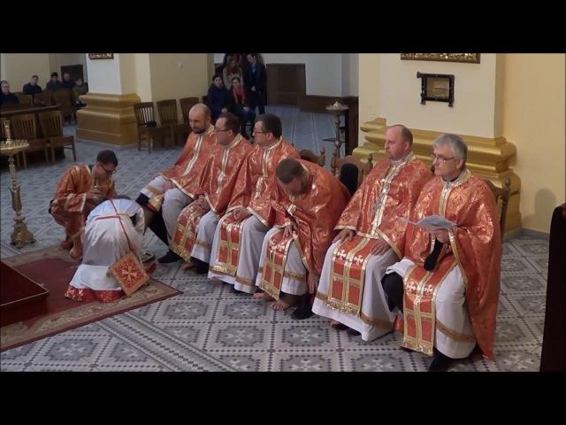 Obrzęd umywania nóg w Archikatedrze Greckokatolickiej pw. Jana Chrzciciela w Przemyślu