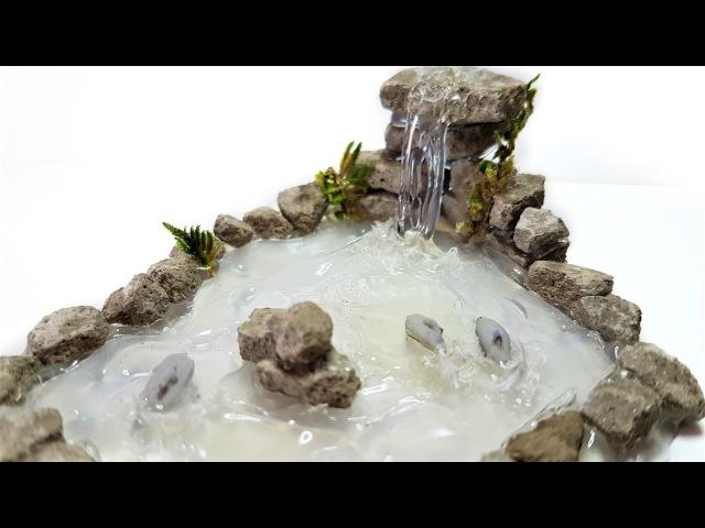 Мастер-класс: водопад из горячего клея с дельфинами