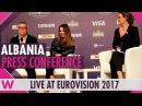 Albania Press Conference 2 Lindita World Eurovision 2017 wiwibloggs