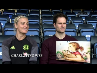 Asmir Begović and Chelsea Ladies Football Club captain Katie Chapman took on our World Book Day quiz yesterday! ?