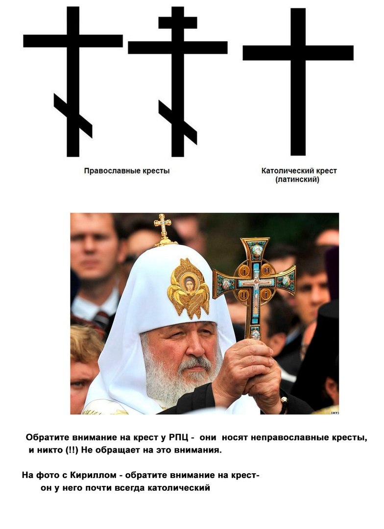Православные и Католические кресты