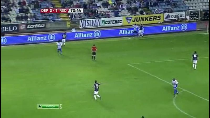 12.Чемпионат Испании 2010-2011 27-й тур Депортиво - Реал Сосьедад (2 тайм)