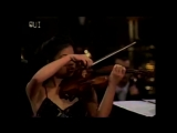 Vanessa-Mae plays a rare version of JS Bach Toccata & Fugue with her acoustic violin, accompanied by the Bratislava Radio Sympho